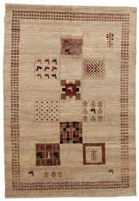 Gabbeh Loribaft Matto 152X219 Moderni Käsinsolmittu Ruskea/Vaaleanruskea/Tummanbeige (Villa, Intia)