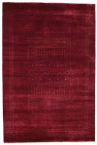 Gabbeh Loribaft Matto 153X227 Moderni Käsinsolmittu Tummanpunainen (Villa, Intia)