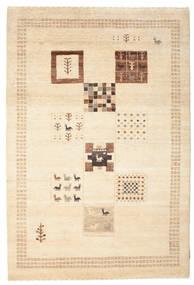 Gabbeh Loribaft Matto 150X223 Moderni Käsinsolmittu Beige/Vaaleanruskea (Villa, Intia)