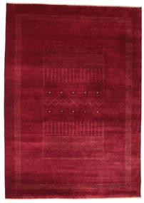 Gabbeh Loribaft Matto 156X221 Moderni Käsinsolmittu Tummanpunainen/Punainen (Villa, Intia)