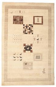 Gabbeh Loribaft Matto 150X231 Moderni Käsinsolmittu Beige/Vaaleanruskea (Villa, Intia)