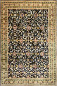 Tabriz Patina Matto 244X360 Itämainen Käsinsolmittu Tummanbeige/Musta (Villa, Persia/Iran)