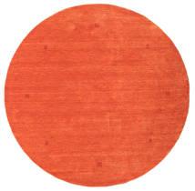 Loribaf Loom Matto Ø 202 Moderni Käsinsolmittu Pyöreä Oranssi/Punainen (Villa, Intia)