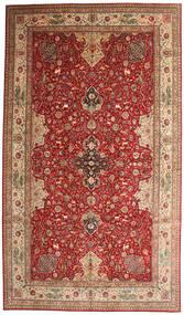 Tabriz 50 Raj Allekirjoitettu Torabi Matto 378X660 Itämainen Käsinsolmittu Tummanpunainen/Ruskea Isot (Villa/Silkki, Persia/Iran)