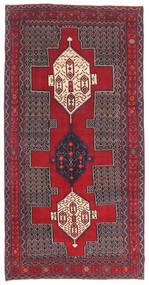 Senneh Patina Matto 145X299 Itämainen Käsinsolmittu Tummanruskea/Punainen (Villa, Persia/Iran)