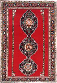 Ghashghai Matto 193X285 Itämainen Käsinsolmittu Punainen/Tummanharmaa (Villa, Persia/Iran)