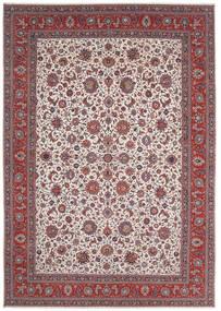 Sarough Matto 400X570 Itämainen Käsinsolmittu Tummanpunainen/Vaaleanharmaa Isot (Villa, Persia/Iran)