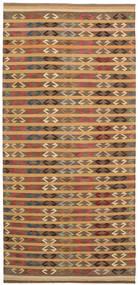 Kelim Moderni Matto 177X392 Moderni Käsinkudottu Käytävämatto Vaaleanruskea/Ruskea/Tummanbeige (Villa, Afganistan)