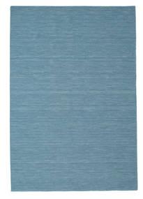 Kelim Loom - Sininen Matto 200X300 Moderni Käsinkudottu Siniturkoosi/Vaaleansininen (Villa, Intia)