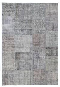 Patchwork Matto 167X242 Moderni Käsinsolmittu Tummanharmaa/Tummanruskea/Vaaleanharmaa (Villa, Turkki)