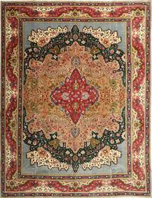 Tabriz Patina Matto 315X408 Itämainen Käsinsolmittu Tummanruskea/Vaaleanruskea Isot (Villa, Persia/Iran)