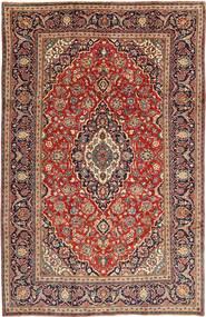 Hamadan Shahrbaf Patina Matto 195X305 Itämainen Käsinsolmittu Tummanpunainen/Ruskea (Villa, Persia/Iran)