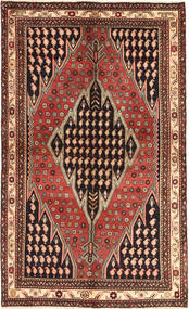 Saveh Matto 136X230 Itämainen Käsinsolmittu Tummanpunainen/Tummanruskea (Villa, Persia/Iran)