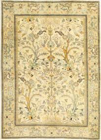Tabriz Patina Matto 100X140 Itämainen Käsinsolmittu Beige/Tummanbeige/Vaaleanvihreä (Villa, Persia/Iran)
