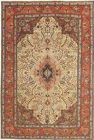 Tabriz Patina Matto 195X295 Itämainen Käsinsolmittu Ruskea/Tummanbeige (Villa, Persia/Iran)