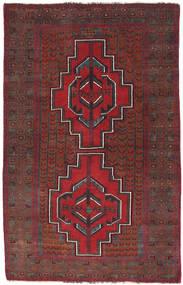Beluch Matto 87X137 Itämainen Käsinsolmittu Tummanpunainen/Tummanruskea (Villa, Afganistan)