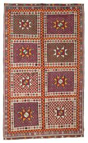 Kelim Semiantiikki Turkki Matto 183X311 Itämainen Käsinkudottu Tummanpunainen/Punainen (Villa, Turkki)