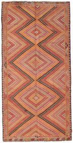 Kelim Semiantiikki Turkki Matto 147X298 Itämainen Käsinkudottu Tummanpunainen/Vaaleanruskea (Villa, Turkki)