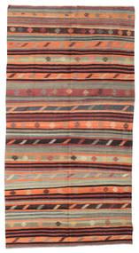 Kelim Semiantiikki Turkki Matto 170X324 Itämainen Käsinkudottu Vaaleanharmaa/Ruskea (Villa, Turkki)