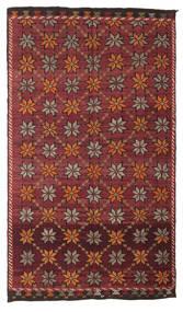 Kelim Semiantiikki Turkki Matto 180X311 Itämainen Käsinkudottu Tummanpunainen/Tummanruskea (Villa, Turkki)