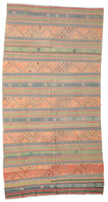 Kelim Semiantiikki Turkki Matto 192X360 Itämainen Käsinkudottu Vaaleanruskea/Vaaleanharmaa (Villa, Turkki)