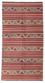 Kelim Semiantiikki Turkki Matto 170X325 Itämainen Käsinkudottu Tummanpunainen/Vaaleanruskea (Villa, Turkki)