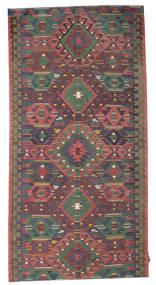 Kelim Semiantiikki Turkki Matto 169X334 Itämainen Käsinkudottu Tummanharmaa/Tummanpunainen (Villa, Turkki)
