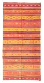 Kelim Semiantiikki Turkki Matto 156X317 Itämainen Käsinkudottu Oranssi/Ruoste (Villa, Turkki)
