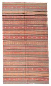 Kelim Semiantiikki Turkki Matto 188X338 Itämainen Käsinkudottu Vaaleanpunainen/Vaaleanruskea/Tummanpunainen (Villa, Turkki)