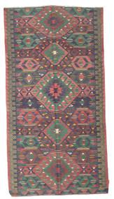 Kelim Semiantiikki Turkki Matto 174X330 Itämainen Käsinkudottu Tummanharmaa/Ruskea (Villa, Turkki)