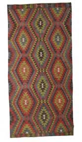 Kelim Semiantiikki Turkki Matto 172X360 Itämainen Käsinkudottu Tummanruskea/Vaaleanruskea (Villa, Turkki)
