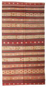 Kelim Semiantiikki Turkki Matto 168X337 Itämainen Käsinkudottu Tummanpunainen/Vaaleanruskea (Villa, Turkki)