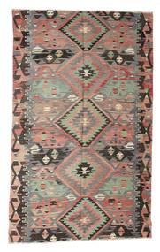 Kelim Semiantiikki Turkki Matto 180X290 Itämainen Käsinkudottu Vaaleanharmaa/Tummanharmaa (Villa, Turkki)