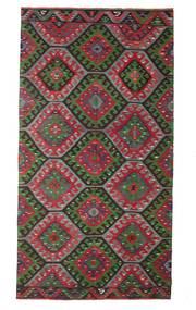 Kelim Semiantiikki Turkki Matto 174X327 Itämainen Käsinkudottu Tummanruskea/Musta (Villa, Turkki)