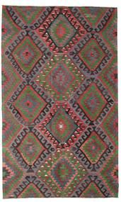 Kelim Semiantiikki Turkki Matto 200X332 Itämainen Käsinkudottu Tummanpunainen/Tummanharmaa (Villa, Turkki)