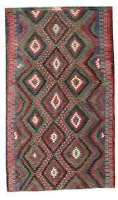 Kelim Semiantiikki Turkki Matto 194X325 Itämainen Käsinkudottu Tummanpunainen/Musta (Villa, Turkki)