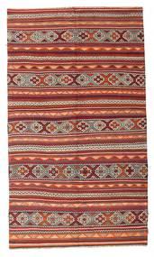 Kelim Semiantiikki Turkki Matto 187X321 Itämainen Käsinkudottu Tummanpunainen/Ruskea (Villa, Turkki)