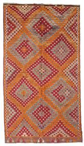 Kelim Semiantiikki Turkki Matto 170X306 Itämainen Käsinkudottu Tummanpunainen/Ruskea (Villa, Turkki)
