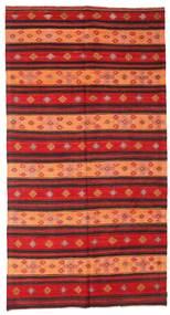 Kelim Semiantiikki Turkki Matto 186X352 Itämainen Käsinkudottu Tummanpunainen/Ruoste (Villa, Turkki)