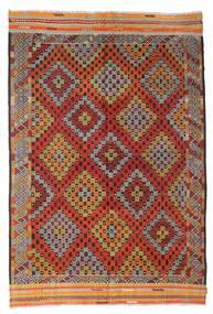 Kelim Semiantiikki Turkki Matto 190X282 Itämainen Käsinkudottu Tummanpunainen/Tummanruskea (Villa, Turkki)