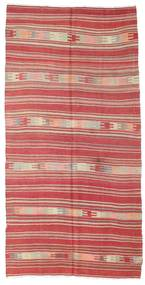 Kelim Semiantiikki Turkki Matto 144X285 Itämainen Käsinkudottu Ruoste/Vaaleanpunainen (Villa, Turkki)