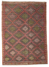 Kelim Semiantiikki Turkki Matto 206X284 Itämainen Käsinkudottu Tummanpunainen/Tummanruskea (Villa, Turkki)