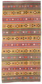Kelim Semiantiikki Turkki Matto 168X351 Itämainen Käsinkudottu Tummanpunainen/Tummanbeige (Villa, Turkki)