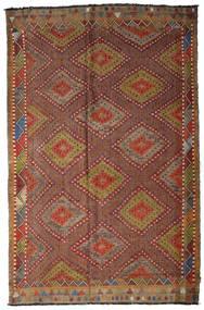 Kelim Semiantiikki Turkki Matto 205X317 Itämainen Käsinkudottu Tummanruskea/Ruskea (Villa, Turkki)