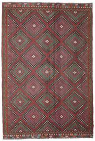 Kelim Semiantiikki Turkki Matto 206X307 Itämainen Käsinkudottu Tummanpunainen/Tummanharmaa (Villa, Turkki)