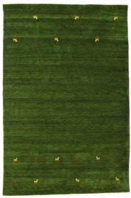 Gabbeh Loom Two Lines - Vihreä Matto 190X290 Moderni Tummanvihreä (Villa, Intia)