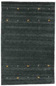 Gabbeh Loom Two Lines - Tummanharmaa/Vihreä Matto 190X290 Moderni Musta (Villa, Intia)