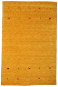 Gabbeh Loom Two Lines - Keltainen Matto 190X290 Moderni Keltainen/Vaaleanruskea (Villa, Intia)