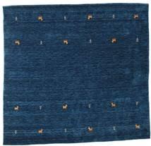 Gabbeh Loom Two Lines - Tummansininen Matto 200X200 Moderni Neliö Tummansininen (Villa, Intia)