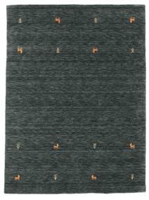Gabbeh Loom Two Lines - Tummanharmaa/Vihreä Matto 140X200 Moderni Musta/Tummanharmaa/Tummanvihreä (Villa, Intia)